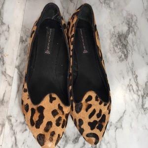 Steven by Steve Madden Leopard Print Fur Flats